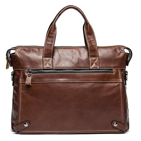 Men's Leather Bag Laptop Crossbody Shoulder Business Messenger Style