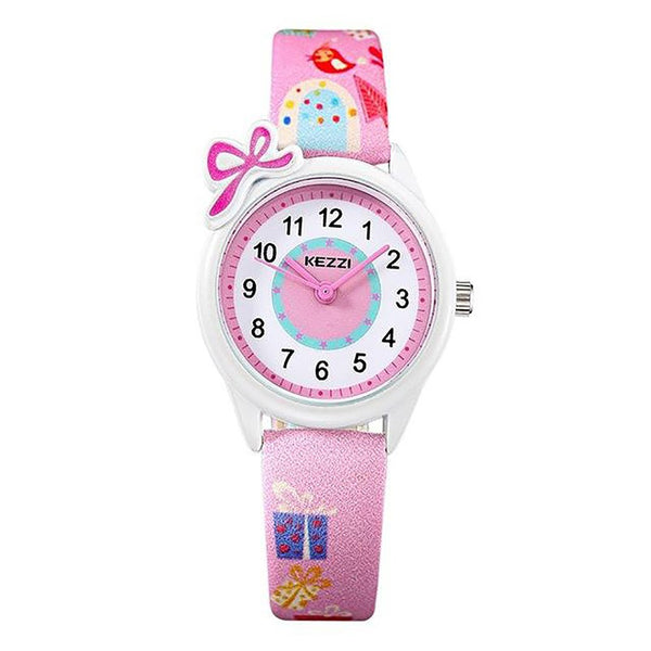 Unisex Kid's Watch Quartz Analog Cartoon Leather Strap Waterproof Gift