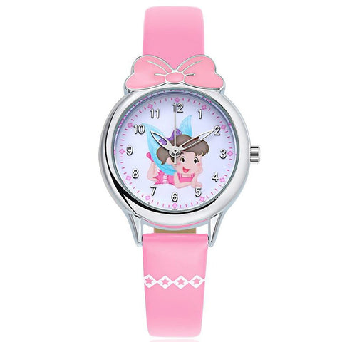 KEZZI Brand Children's Watches Kids Quartz Watch Student Girls Quartz-watch Cute Colorful Butterfly Dial Waterproof