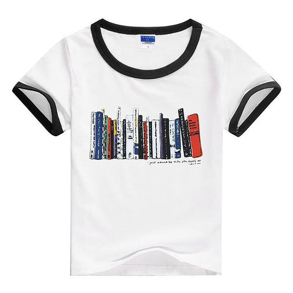 Unisex Kid's T-shirt Summer Cartoon Design Short Sleeves