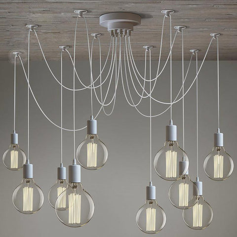 Modern Lustre Chandelier 6-16 Arms Retro Adjustable Edison Bulb E27 Spider Ceiling Fixture