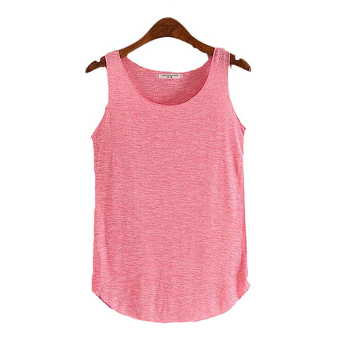 Women's Tank Round Neck Loose Sleeveless Regular Satin