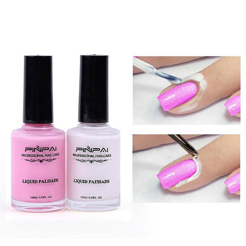 Peel-off Latex Nail Polish and Liquid Tape 1 pair DIY Nail Art Tools