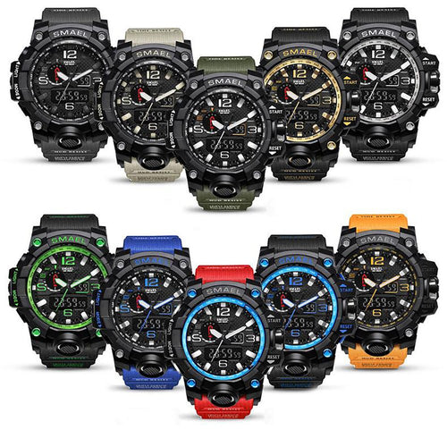 Smael Brand Men Sports Watches Dual Display Analog Digital Led Electro Watch Whole