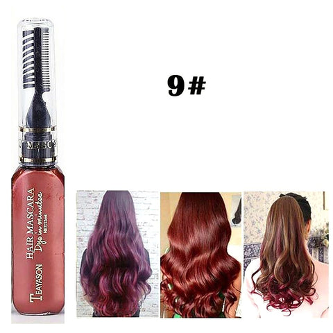 13 Colors One-time Hair Color Dye Temporary Non-toxic DIY Mascara Cream Blue Gray Purple