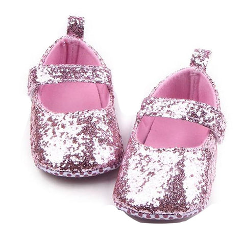 Baby Girl's Crib Shoes Soft Sole Sequins