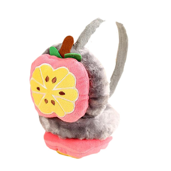 Unisex Kid's Earmuffs Winter Plush Thick Cartoon Fruit Design