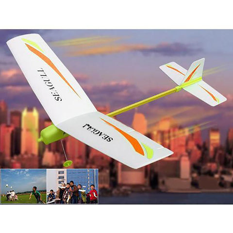 2017 New Electronic Toys And Children's Product DIY Electric Paper Airplane Easy Assembly Model Aircraft Outdoor Sport &fun