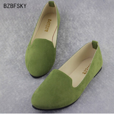Women's Shoes Patent PU Tip Flats Ballet Casual Plus Sizes