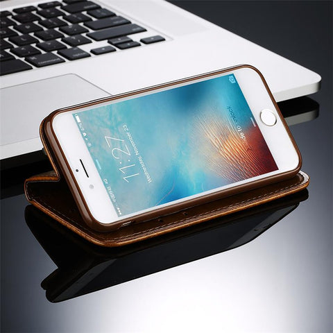 Leather Flip Phone Wallet Case for IPhone & Samsung With Card Bags