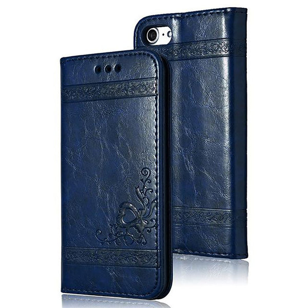 Leather Flip Phone Case For IPhone 7 Plus 6s 5s 4s Samsung Galaxy S3 S4 S5 S6 S7 Edge S8 Note 3 4 5 Card Bags