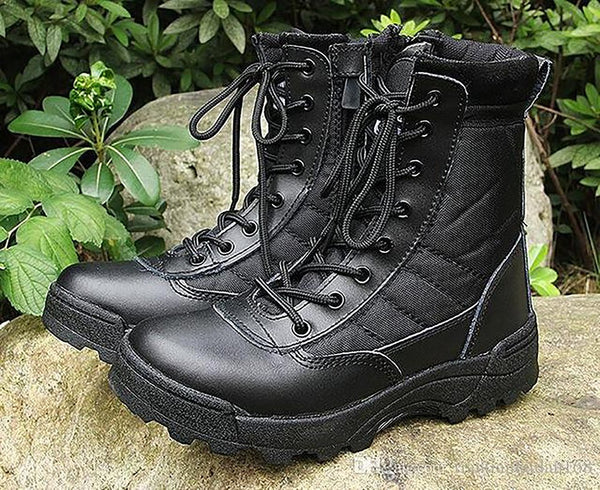 2017 New Us Military Leather Boots for Men Combat Bot Infantry Tactical Askeri Army Bots Shoes Erkek Ayakkabi