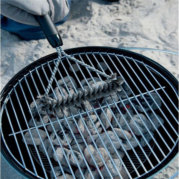 High Quality Stainless Steel Barbecue Grill Cleaning Brush Wire Cleaner Outdoor BBQ Clean Tool Accessories with Handle