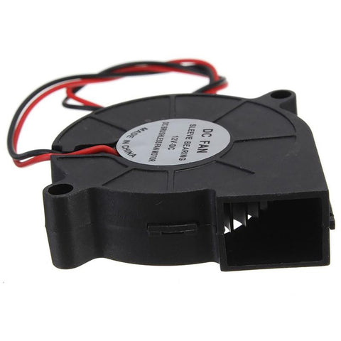 Blow Radial Cooling Fan for Electronic 3D Printer Ball Bearing Long Life Low Noise Double 12V 50mm