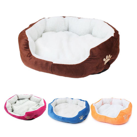 Pet's Mini House Bed Soft Warm Candy Colored