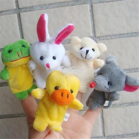 10 Pcs/lot Baby Plush Toy Finger Puppets Tell Story Props Animal Doll Hand Puppet Kids Toys Children Gift with Group
