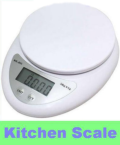 Kitchen Weight Measuring Balance Scales 1g/5000g Food Diet Postal Digital LED Electronic