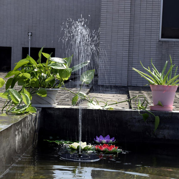 Lumiparty Hot Sale 7V Floating Water Pump Solar Panel Garden Plants Power Fountain Pool