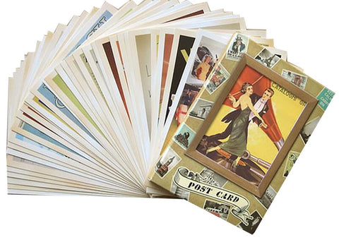 Vintage Old Memory Postcard Birthday Greeting Gift for Friend 32pcs/ Set