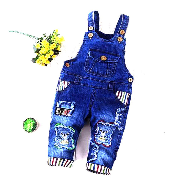 Unisex Children's Jean Overall Cotton Denim