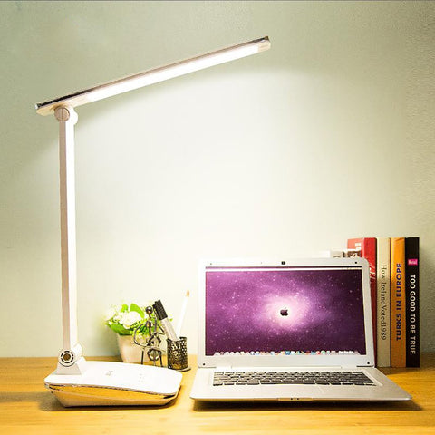 Foldable Desk Lamp LED Rechargable Duration Power Touch Dimmer Office Reading