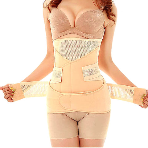 Postpartum Waist Belt Recovery for Belly Abdomen Pelvis Polyester Breathable 3 in 1 Slim