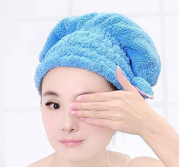 Women's Hair Drying Towel Magi Quick Dry Head Wrap Makeup Cosmetics Bathing Tool