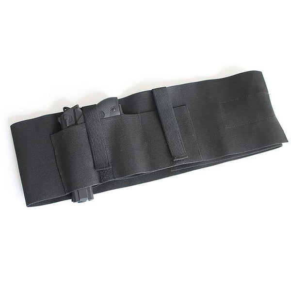 Tactical Adjustable Elastic Belly Band Holster Waist Pistol Gun for Concealed Carry with Magazine Pocket Fit up to 46""