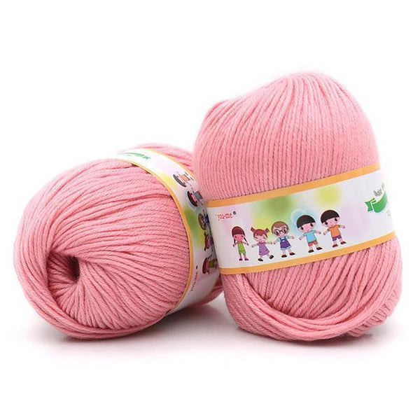 1pc Cotton Silk Knitting Yarn Soft Warm Baby for Hand Anti-Bacterial Eco-friendly Supplies 50g/pc