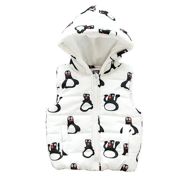 Unisex Kid's Vest Hooded Casual Character Cartoon