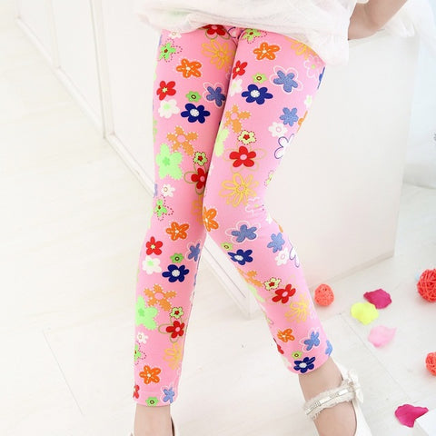1pc Retail 2017 New Style 2-7 Years Children Pantskids Leggings for Girls Girl's Clothing Baby Girl