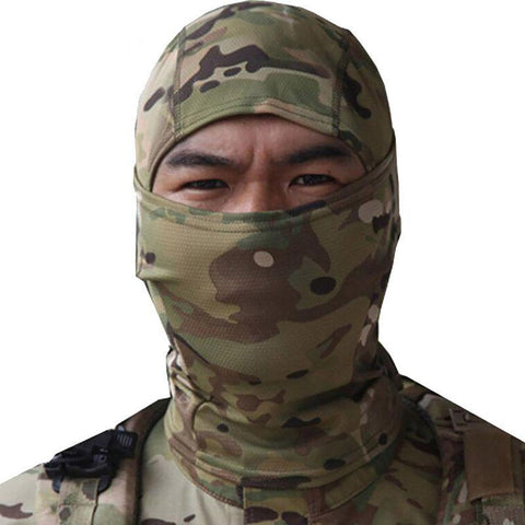 SINAIRSOFT Rattlesnake Tactical Helmet Airsoft Hunting Wargame Breathing Dustproof Face Balaclava Mask Ski Cycling Full Hood