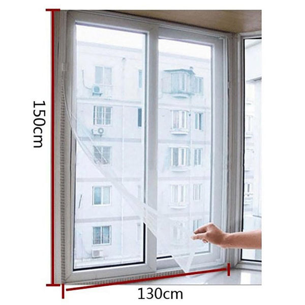 Factory Price! New Fashion Door Window Flyscreen Wire Net Fly Bug Mosquito Mesh Screen Curtain White