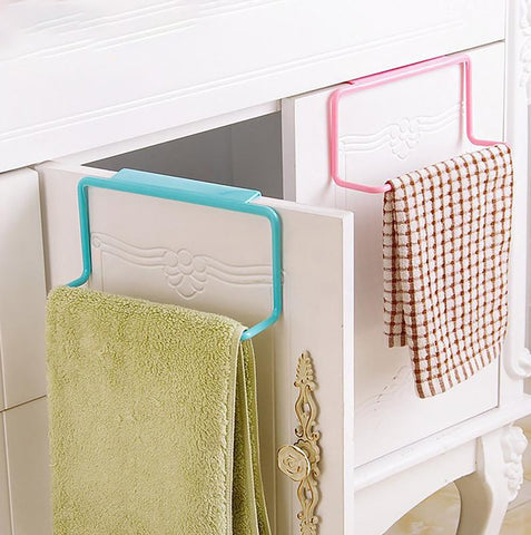 Hanging Towel Holder Organizer Storage for Bathroom Kitchen