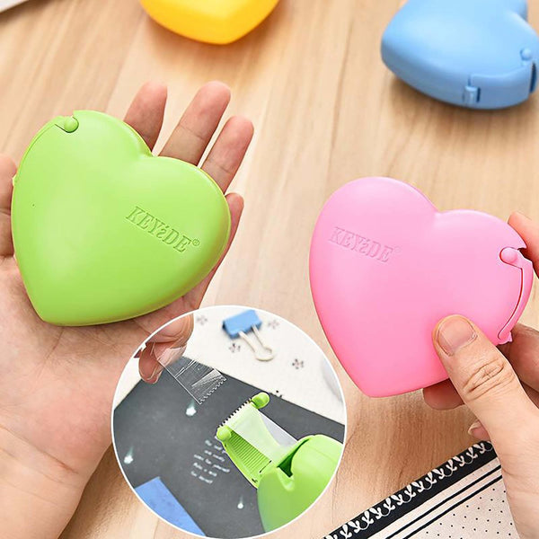 Small Tape Cutter Machine Love Shape Creative Cartoon Stationery