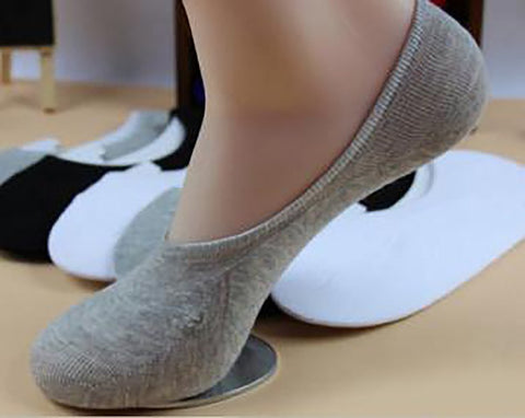 Unisex Ankle Socks Soft Cotton Low Cut Casual Non-Slip No Show Invisible