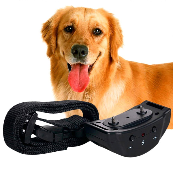 Hoopet Dog Anti Bark Control Collar Auto Vibration Shock Training Stop Barking Deterrents Leather Leash Drop Shipping