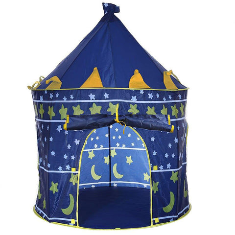 3 Colors Play Tent Portable Foldable Tipi Prince Folding Children Boy Castle Cubby House Kids Gifts Outdoor Toy Tents