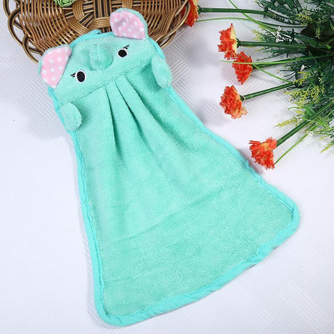 Hand Tower Cartoon Elephant Dry Towel Clearing Lovely Animal Face For Kitchen Bathroom Office Car Use