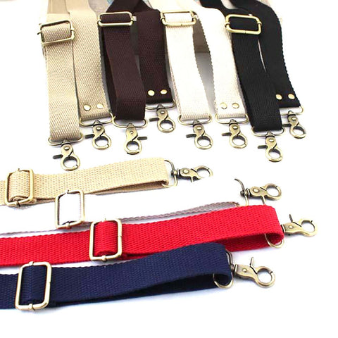 Women's Cotton Handbag Belt Adjustable Fabric Leather Quilt Handmade D34 3cm Wide 80-150cm Length