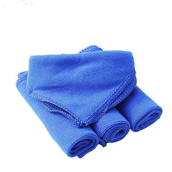 Soft Microfiber Cleaning Towel 30x30cm Auto Wash Polish Cloth Quick Dry Cleaning Fabric