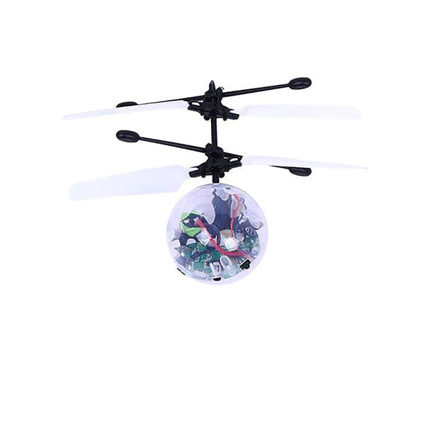 Kid's Mini Helicopter Crystal Ball Toy Flying LED Flashing Stage Home Entertainment