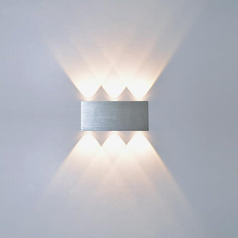 YooE Indoor 2W 4W 6W 8W LED Wall Lamps AC100V/220V Aluminum Decorate Sconce Bedroom Light