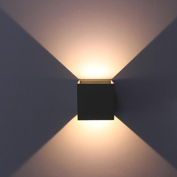 IP65 Adjustable Surface Mounted Outdoor Cube LED Wall Light,Led Lamp ,Up And Down Sconce