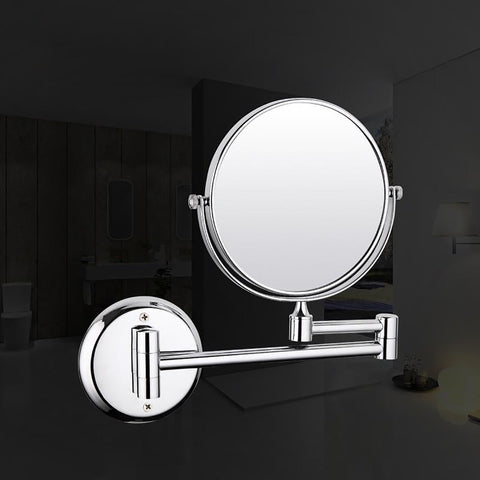 Wall Mounted Mirror Chrome Finished Adjustable Distance Bathroom Accesories