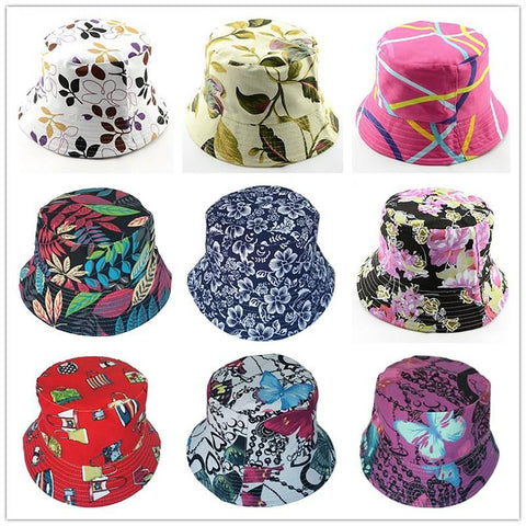 Women's Bucket Hat Cotton Summer Beach Sun
