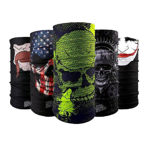 Unisex Reversible Bandana Scarf for Hiking Bicycle Motorcycle