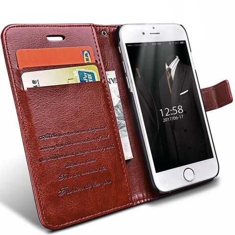 Leather iPhone Case Cover With Card Slot