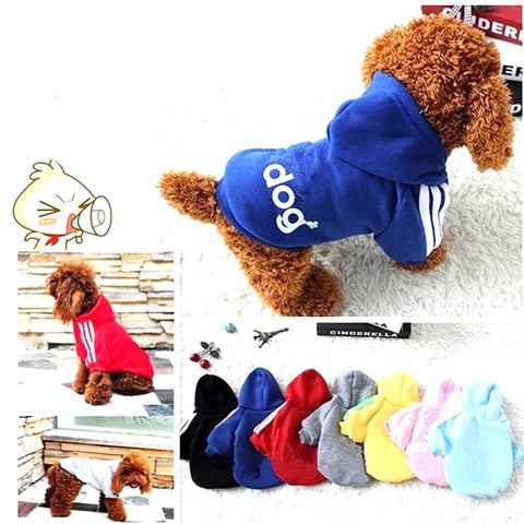 Pet Winter Clothes Soft Cotton Puppy Outfits Dog Autumn Wear