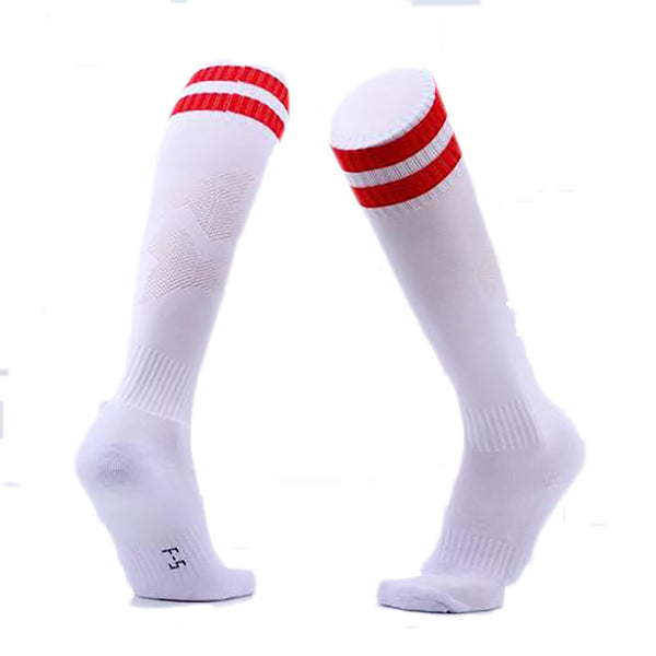 Children Football Socks Boys Soccer Sock Kid's Above Knee Plain Long Stockings Men Over High Baseball F-5